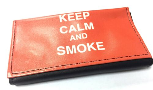 TOBACCO POUCH RIZLA SLOT POUCH SOFT PU LEATHER TOBACCO WALLET PURSE POUCH HOLDER