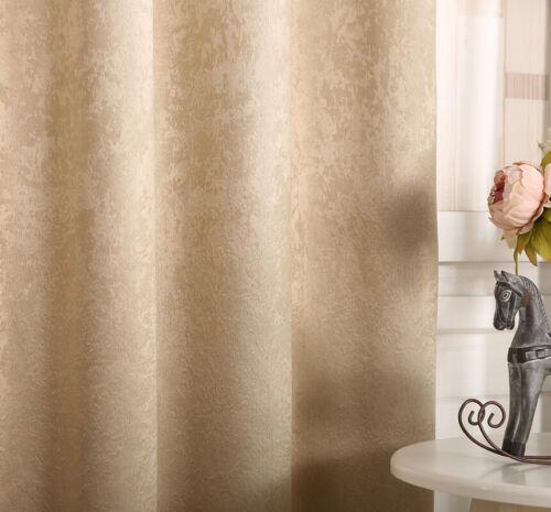 2x Vorhang Verdunklung Kräuselband Gardine blickdicht Thermo Champagne 175x135cm
