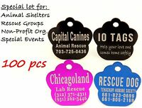 Made In Usa Bulk Lot Pet Id Tag Dog Cat For Shelter Rescue Non Profit Lot 100