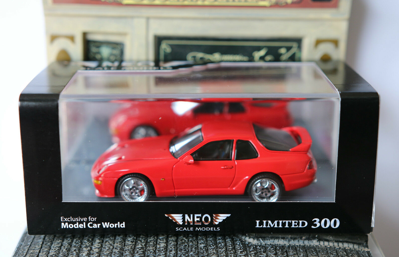 PORSCHE 968 TURBO RS PRESENTATION RED 1994 NEO 43836 1 1 1 43 LIMITED EDITION RESIN 746e3b
