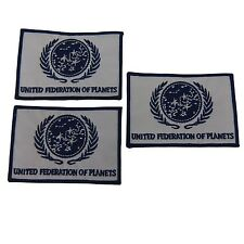 Star Trek United Federation of Planets Embroidered Patch Set of 3