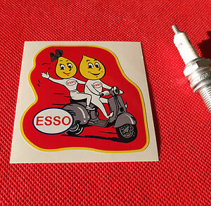 esso vespa classic race rally retro sticker aufkleber