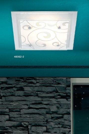 Plafoniera Design Lampada da soffitto Moderno Lampadario Bianco Metallo 40801