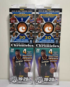 2019-20-Panini-2-Mosaic-And-2-Chronicles-Sealed-Hanger-Box-Lot-NBA-Basketball