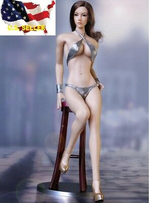 "1//6 black party evening dress for 12/"" female figure Hot toys Phicen kumik ❶USA❶"