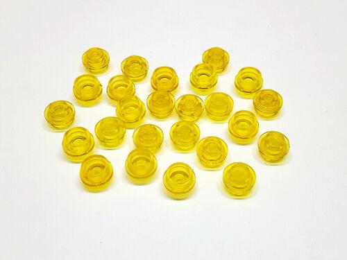 3005744 Lego Platte Rund 1x1 transparent Gelb 25 Stück