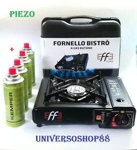 Braderie meilleur en ligne couleur rapide Dettagli su FORNELLO DA CAMPEGGIO A GAS + 4 BOMBOLETTE CUCINA PORTATILE