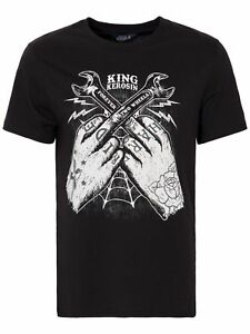 King-Kerosin-T-Shirt-Hard-Ride-Rockabilly-Rocknroll-50s-Schwarz-Pin-Up-5014