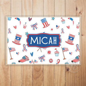 kid 039 s personalized placemat patriotic laminated placemat with