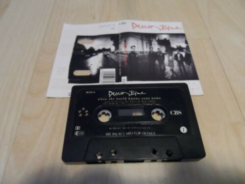 DEACON BLUE - WHEN THE WORLD KNOWS YOUR NAME (CASSETTE/TAPE ALBUM) PAPER LABELS