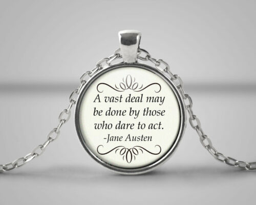 A Vast Deal May Be Done Quote Necklace Jane Austen Inspirational