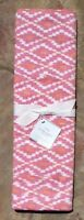Pottery Barn Isa Ikat Yarn Dye Table Runner Pink / Orange 18 X 108