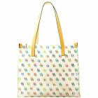 Dooney & Bourke Clear Medium Tote SHOPPER Bag Purse It Leather Trim