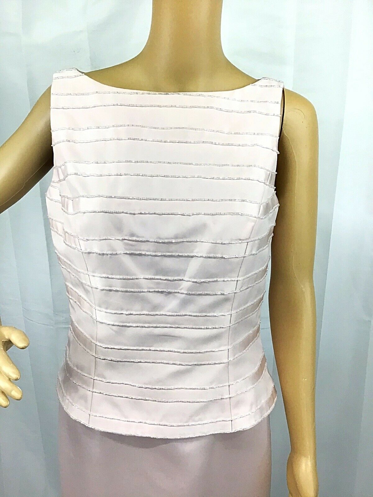 VINTAGE COUTURE MARIE ST. CLAIRE PINK BEADED TRIM… - image 9