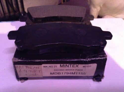 Performance mintex racing pads fits subaru imprezas