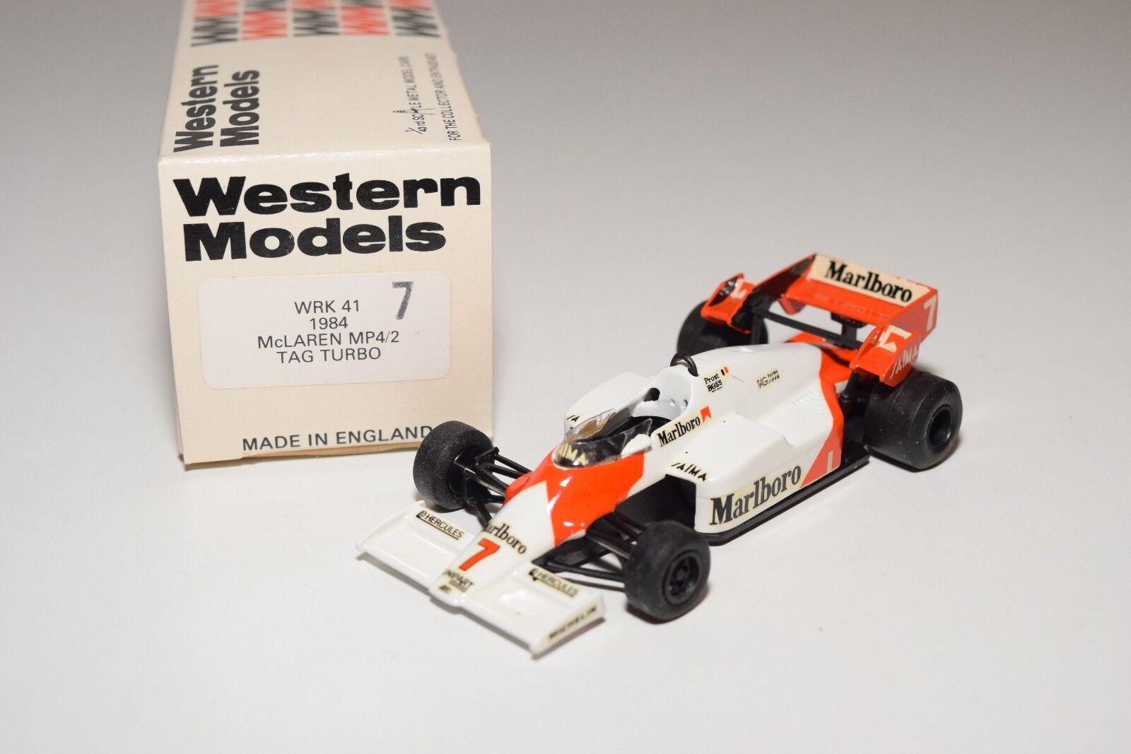 I WESTERN MODELS WM WRK41 1984 MCLAREN MP4 2 TAG TURBO 7 RACING CAR MINT BOXED