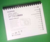 Laser Printed Fujifilm F70exr F75exr Finepix Camera 125 Page Owners Manual Guide