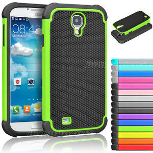 For-Samsung-Galaxy-S4-S-IV-I9500-Hybrid-Rugged-Rubber-Matte-Hard-Case-Cover-Skin