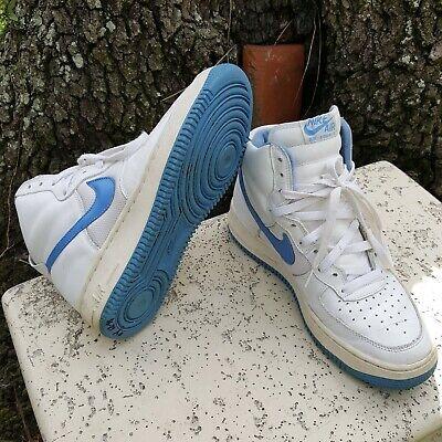 Nike Air Force 1 High White Unc Blue Vintage 1999 630313 141 Mens