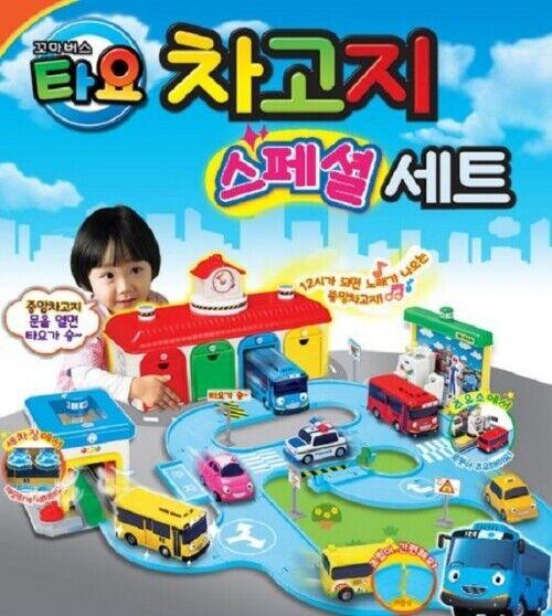 Tayo The liten buss Garage särskild Set Gas Station Roll Spela pedagogisk leksak