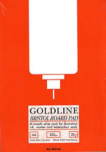 Goldline Bristol Board Pad 220gsm - A4