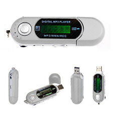 4 Gb Reproductor Mp3 De Plata De Bolsillo Usb Slim Delgada Multimedia Música Con Radio Fm