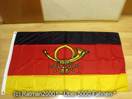 Fahne Flagge Deutsche Post 1950 bis 1994 Premium 90 x 150 cm