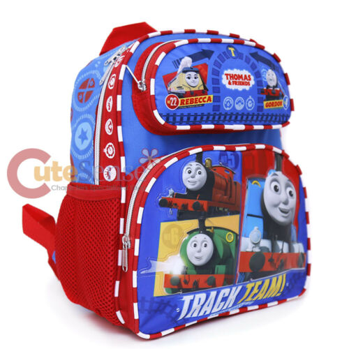 "Thomas Tank Engine Friends 12/"" School Backpack Boys book Bag Fast Friends"