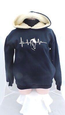 Equitazione/cavallo/felpa Con Cappuccio/heart Beat/frequenza Cardiaca-mostra Il Titolo Originale Una Grande Varietà Di Merci