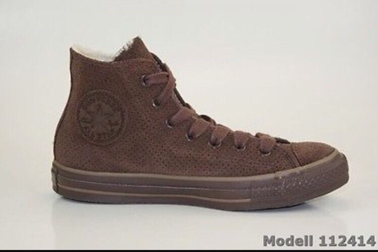 CONVERSE All Star Brown Suede Winter lined Chuck high top EU 38 M 5.5 W 7.5 EUC