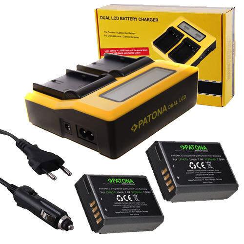 Patona dual LCD cargador con 2x premium batería para Canon EOS 2000d 4000d 1020mah