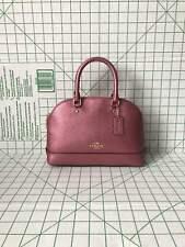 c7eb90ae6444 Coach F29170 Crossgrain Leather Mini Sierra Satchel Bag in Metallic Ant  Blush