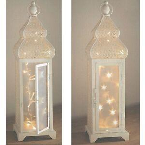 shabby chic moroccan style 20 led string lantern lights 47cm tall ebay rh ebay co uk shabby chic lanterns white distressed shabby chic lanterne