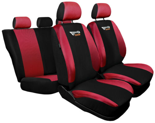 Seat covers fit Vauxhall Astra F G H J K  black red  sport style