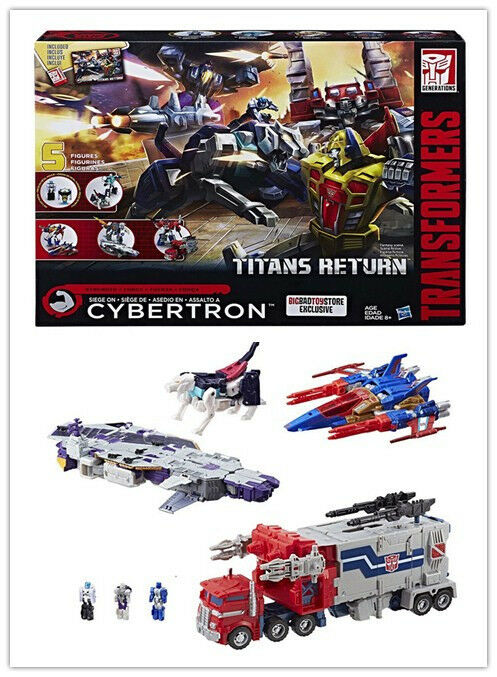 Transformers Titans Return SIEGE ON CYBERTRON 5 Figures Action Figure Gift Toy