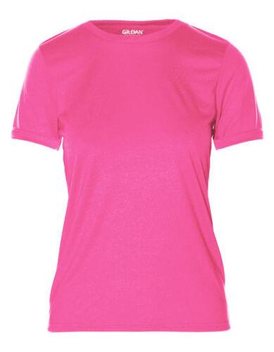 Gildan Damen T-Shirt PERFORMANCE Sportshirt Kurzarm XS S M L XL XXL Neu 42000L