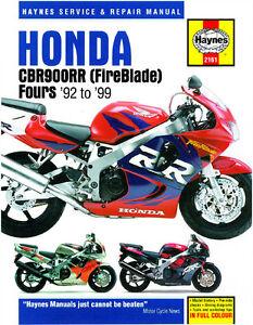 Haynes-Manual-2161-Honda-CBR900RR-FireBlade-92-99-workshop-service-repair