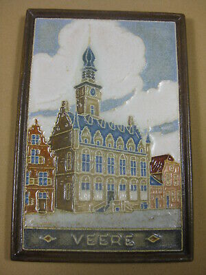 Pottery & Glass Porceleyne Fles Delft Tile Veere Cool In Summer And Warm In Winter