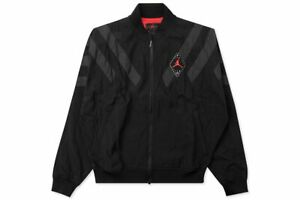 be672f7d7121 Nike Men s Air Jordan LEGACY RETRO 6 NYLON Jacket Black Grey BV5405 ...
