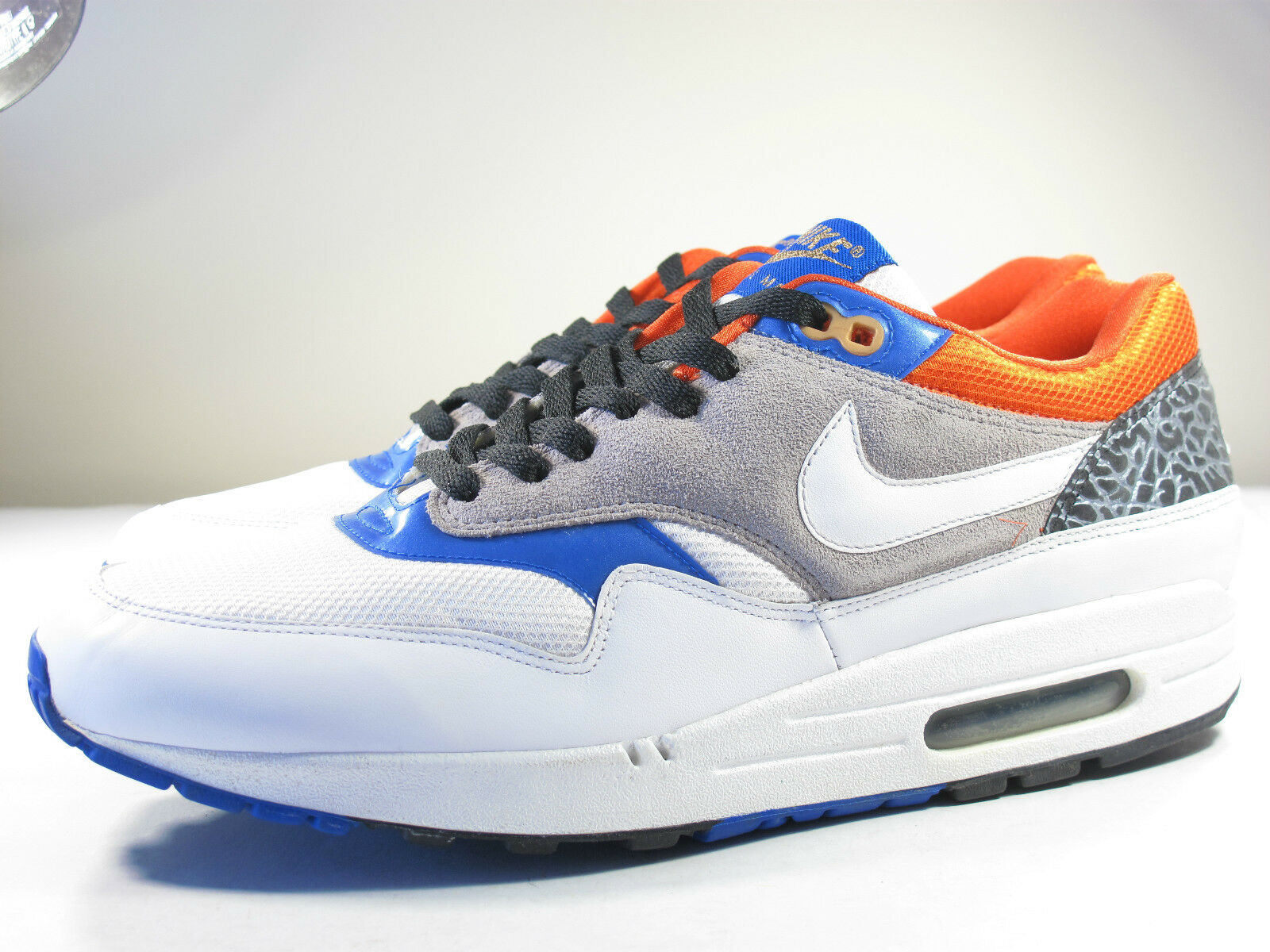 DS NIKE 2007 AIR MAX 1 COLLEGE ORANGE 10.5 SAFARI LEOPARD 90 95 97 180 plus 93