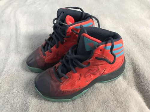 Youth Orange High Tops Baloncesto Mid Neon Adidas Black entrenamiento Sc8 Sz 12 HwBppq