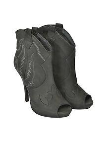ASH-Ankle-Boots-in-pelle-punta-tonda-aperta-cerniera-laterale-pelle-100-PROMO