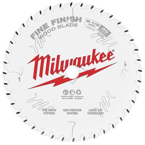Milwaukee 48-40-0622 6-1//2-Inch 40-Tpi Carbide Fine Finish Circular Saw Blade