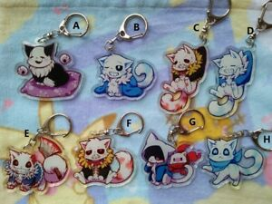 Details about Rare Undertale Fell Sans Papyrus Kitty Version Acrylic  Keychain Keyring Strap