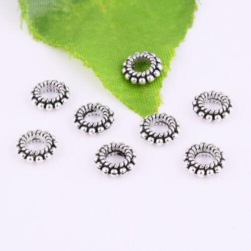 Lot Metal Tibetan silver Spacer Loose Beads DIY Jewelry Making Findings XZ1733#