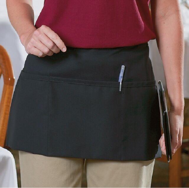 a7e6d56d776 2 Black Waiter Waitress 3 Pocket Waist Aprons for sale online