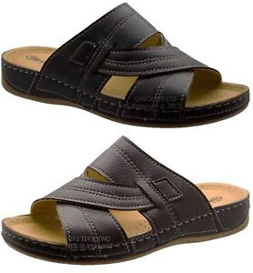 7fa3f9fc8f0ef1 Image is loading MENS-COMFORT-QUALITY-WALKING-HOLIDAY-BEACH-SANDALS-MULES-