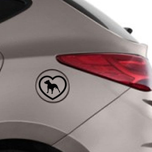 Heart Pitbull Dog Car Decal Vinyl Sticker for Car Window Wall Room Decor Laptop