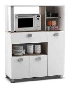 Mueble auxiliar 3 puertas para cocina color blanco 99x132x41cm | eBay