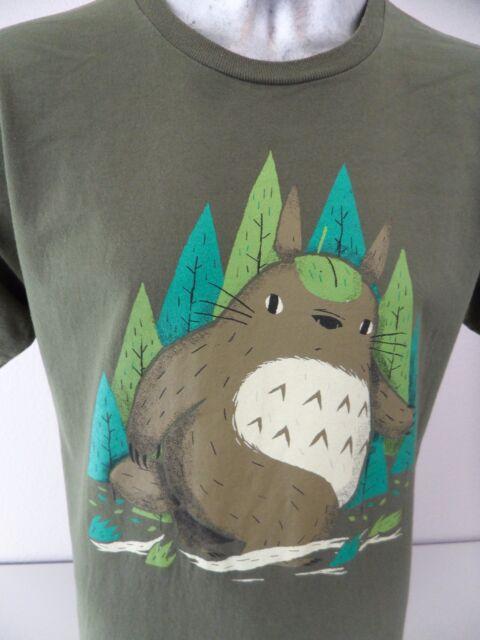 4e1909e67 TeeFury Bigfoot Beaver Sasquatch Funny Cartoon Large T Shirt Rare Print EUC
